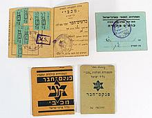Lot of four documents of Maccabi