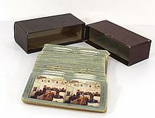 Set of 100 stereoscopic postcards of the Holy Land