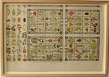 Sheet with illustrations of the plants of Eretz Israel by Nehemia Bedrechi