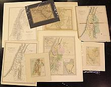 Lot of eight 19th century maps of Palestine (Eretz Israel)