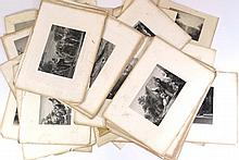 Lot of approximately 60 19th century prints