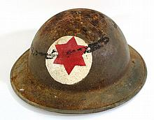 Helmet with a red star of David