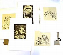 Yosl Bergner (1920-), Lot of 12 lithographs