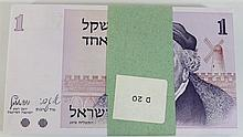 Lot of 100 Shekel banknotes