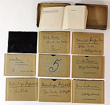 Lot of nine glass slides for a magic lantern