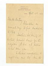 Francis Amasa Walker - Civil War Union Officer - Autographed Letter (ALS)