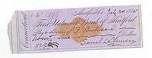Samuel L. Clemens (Mark Twain) - American Author - Authentic Autographed Check