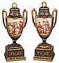 Superb Pr.of 19th Century Royal Vienna Vases