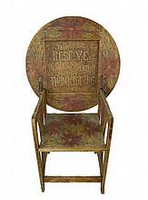American Folk  Art Decorated Chair Table