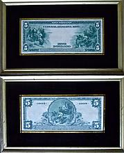 Two Federal Reserve & National Currency Notes
