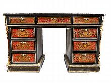 French Boule Neoclassical Desk, 19th C.