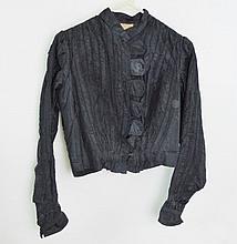 Ladies Ruched Taffeta Jacket, 20th C.