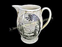 Liverpool Pottery Creamware Pitcher, 19th C.