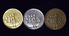 Three Pilgrim Tercentenary Medals, Reed & Barton