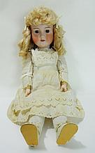 German Bisque Head Doll,  Armand Marseille