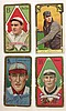 4 T205 Tobacco cards