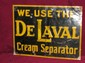 DeLaval Enamel on Tin Sign