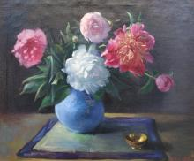 Marie Goth: Floral Still Life: Peonies