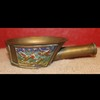Antique Chinese Bronze Champleve Silk Flat Iron