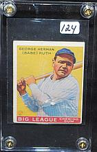 GEORGE HERMAN (BABE) RUTH CHEWING GUM CARD