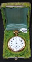 VINTAGE ROCKFORD  17 JEWEL POCKET WATCH WITH CASE - RUNNING