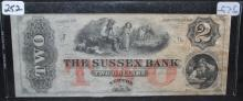 $2 BANK NOTE - THE SUSSEX BANK OF NEW JERSEY