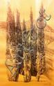 Jan Goeting (1918 - 1984), cypresses