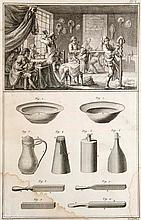 Saint-Aubin, Charles Germain de L'Art du Brodéur. Mit 10 Kupfertafeln. (Paris), 1770. 50 S., 10 Taf. Folio. (Spät.) Pp.