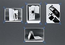 Aasan, Øystein Shelf-life. 2013. 4 Silbergelatineprints, jeweils an allen vier Ecken mit Textil-Klebeband montiert auf festem Museumskarton. Abzüge je 7,5 x 9,2 cm, Karton 35 x 50 cm. - Karton verso vom Künstler signiert, datiert u. nummeriert.
