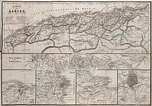 Mährlen, J Algier in den Jahren 1830 bis 1838. 2 Bde. Mit 3 Portraits u. 2 gefalt. Karten. (= Geschichte Frankreichs). Stuttgart, Schweizerbart, 1839/40. S. (201-)1456 (so komplett), 1 Bl. Kl. 8°. Marmor. HLwd. d. Zt. mit (spät.) goldgepr. RSchildern