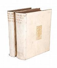 Nordberg, Georg Andreas Histoire de Charles XII. Trad. du Suedois. 4 Bände (in 2). Mit 1 gestoch. Frontispiz, 1 gefalt. Plan, 4 gestoch. Titelvign. u. mehrere Textkupfer. Haag, Husson bzw. de Hondt, 1742-48. 4°. Pgtbde. d. Zt. mit goldgepräg.