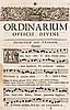 Ordinarium Officii Divini. Mit zahlr. Holzschnitt