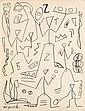 Penck, Krieger, Graphitzeichnu