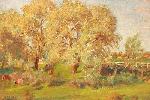 A.M.E. BALE 1875-1955 Waning Spring 1941 Oil on