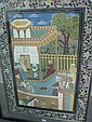 Large framed Persian print [ Actual Lot Number A4