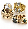 14kt Gold Lady's Ring Grouping, 6pc.