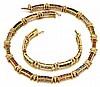 18kt Yellow Gold, Diamond, Peridot, Citrine, Amethyst and Quartz Lady's Bracelet and Necklace, 2 Pc.