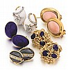 14kt Yellow Gold and Gemstone Lady's Earrings, 5 Pair