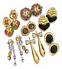 18kt Gold and Gemstone Lady's Earrings, 7 Pair