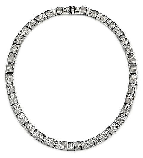 Roberto Coin, 18kt White Gold, Diamond and Ruby Lady's Necklace