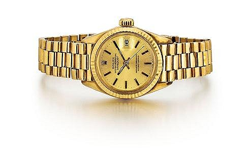 Rolex 18kt Yellow Gold Lady's Wrist Watch