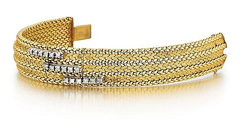 14kt Yellow Gold and Diamond Lady's Wrist Watch
