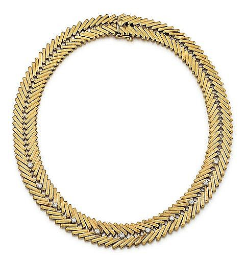 14kt Yellow Gold and Diamond Lady's Necklace