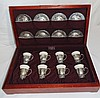 International Sterling La Paglia Design Demitasse Set