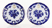 19th C. Pair of Blue and White Plates