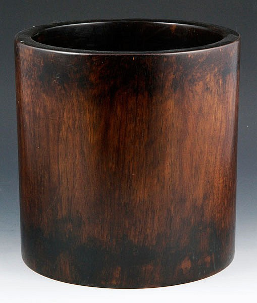 Chinese Huanghuali Wood Brush Pot