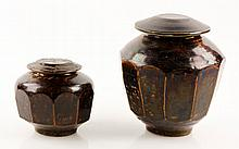 2 19th C. Korean Ginger Jars
