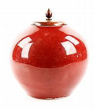 19th C. Chinese Oxblood Ginger Jar