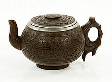 19th/20th C. Chinese Coconut Tea Pot