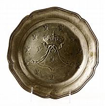 18th/19th C. French Pewter Plate